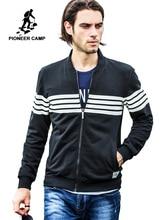 Pioneer Camp brand clothing Spring Autumn High quality Cardigan hoodie men jacket coat male hoodies sweatshirts