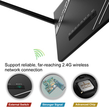 300Mbps Wireless Long Range Wi-Fi Gigabit Router with High Power 5 External Antennas Support 802.11b/g/n for Home Office Hotel
