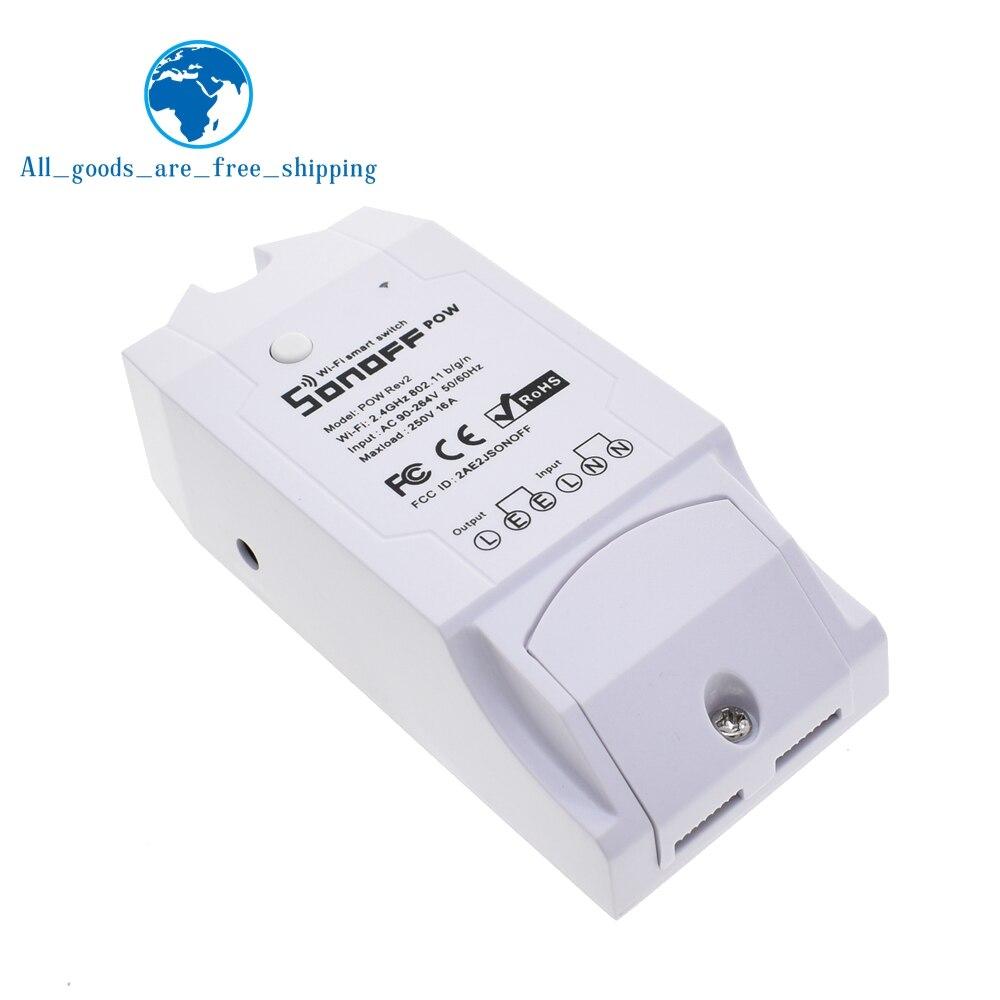 Image 5 - Sonoff Pow R2 15A 3500 Вт Wifi смарт коммутатор Высокая точность энергопотребление измерительный монитор Потребление энергии тока работа с Alexa-in Интегральные схемы from Электронные компоненты и принадлежности on AliExpress