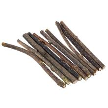 10pcs Pure Natural Catnip Pet Cat Toy Molar Toothpaste Branch Stick Cleaning Teeth Silvervine Cat Snacks