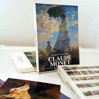 30pcs Set Vintage Claude Monet Boxed Postcards Birthday Card Greeting Card Gift Card Fashion Gift