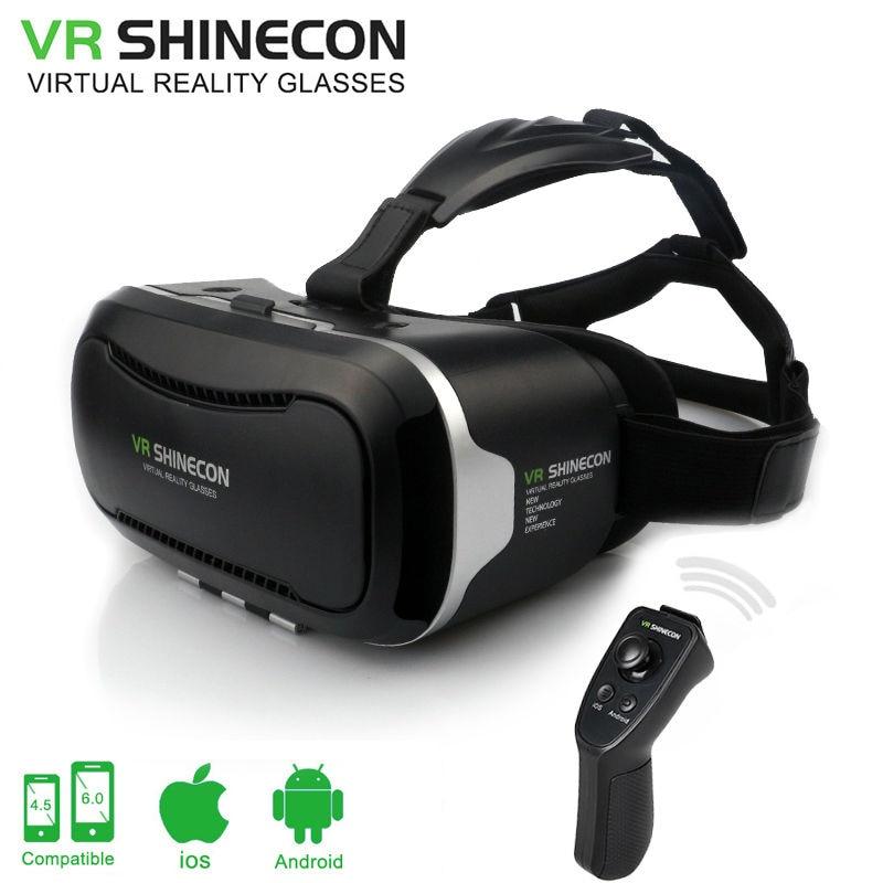 VR Shinecon 2.0 Virtual Reality goggles shinecon VR BOX 2.0 3D Glasses Google Cardboard for 4.5-6.0 inch smartphone