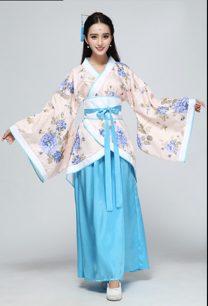 Costume female Tang suit Hanfu formal double winding Qu Yuan show costumes fairy Nuwa skirt adult show costume