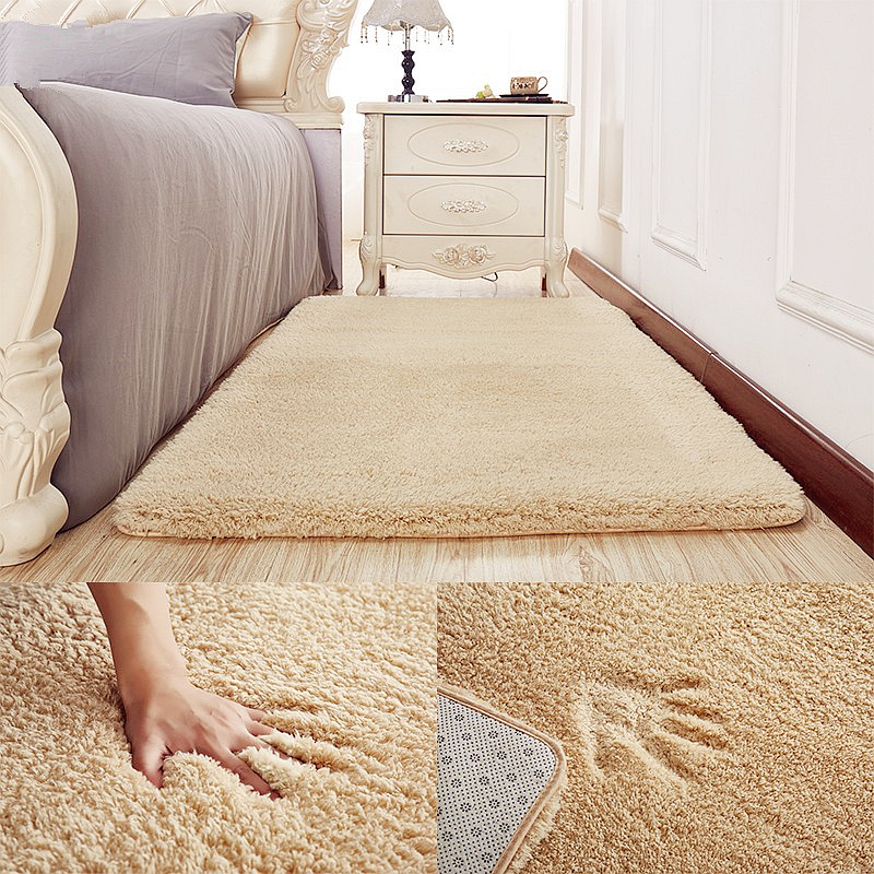 Large Carpet 2MX3M Thicken Plush Soft Shaggy Alfombras Carpet Faux Fur Area Rug Non-slip Floor Mats For Living Room Bedroom Baby