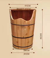 Household Solid Wood Adult Fumigation Barrel Foot Bath Massage Foot Tub Pedicure Steam Wood Steamed Foot Special