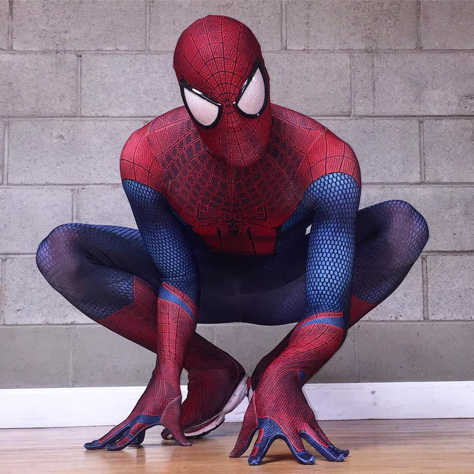 The Amazing Spiderman Costume 3D Original Movie Halloween Spandex Spiderman Superhero Costume Fullbody Zentai font b