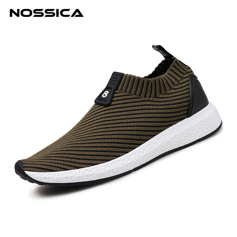 NOSSICA 2018 Summer Hot Sale Shoes Men Sneakers Breathable Mesh Loafers Casual Shoes Comfortable Soft Flat Male Shoes Slip on