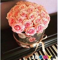 3pcs Set Retro Round Flowers Packing Box Good Quanlity Gift Box Wedding Party Gift Box Buy