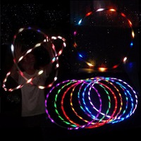 Peradix 90cm LED Glow Hula Hoop Multicolor Sports Toys Loose Weight Kids Child