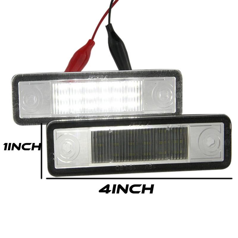 2X Auto 18 LED Placă de înmatriculare 12V Lămpie numerică albă - Faruri auto - Fotografie 6