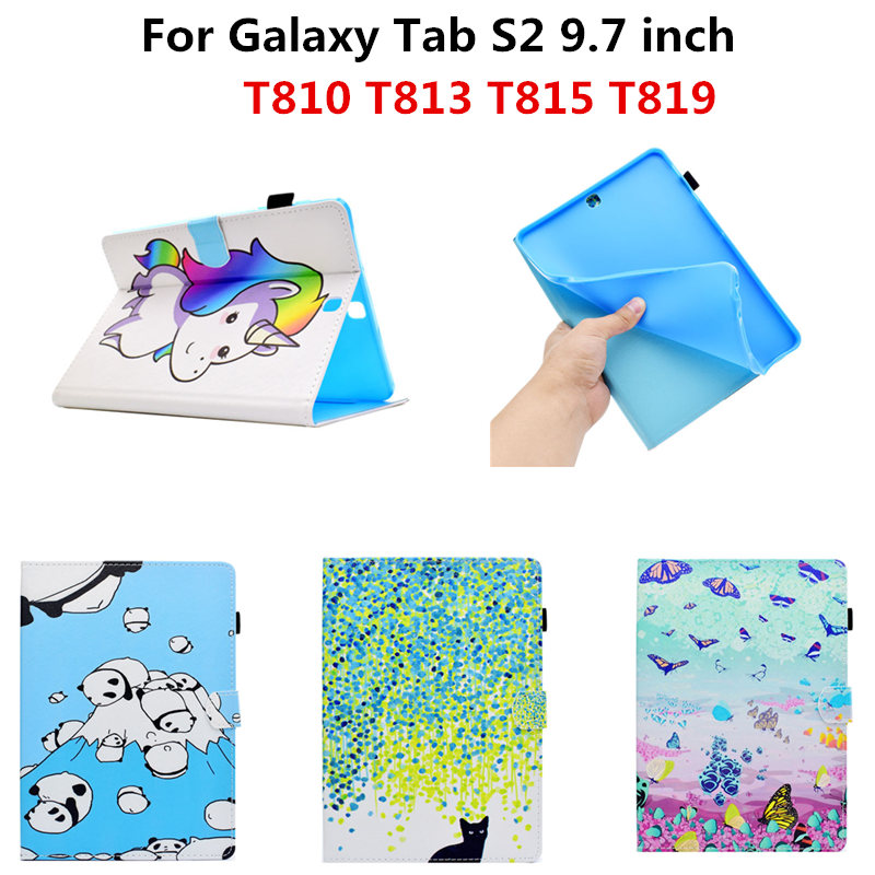 SM-T813 T819 PU Leather Tablet Case Cover Protective Stand Smart Cases For Samsung Galaxy Tab S2 9.7 inch T815 T810 T813 Funda luxury pu leather cover case for samsung galaxy tab s2 9 7 t810 t815 sm t810 flip stand for samsung galaxy s2 t815 cases kf469a