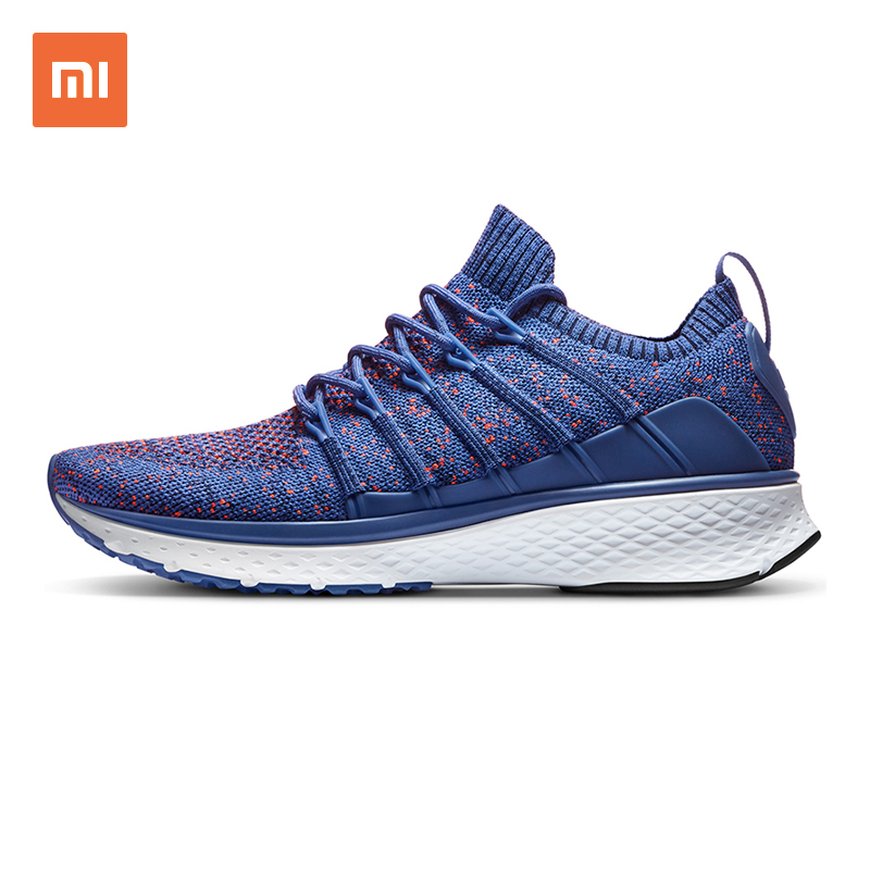 d6c0ee27e33f Original Xiaomi Mijia Shoes Sneaker 2 Outdoor Sports Running Breathable  Elastic Knitting Vamp Sneakers for Men