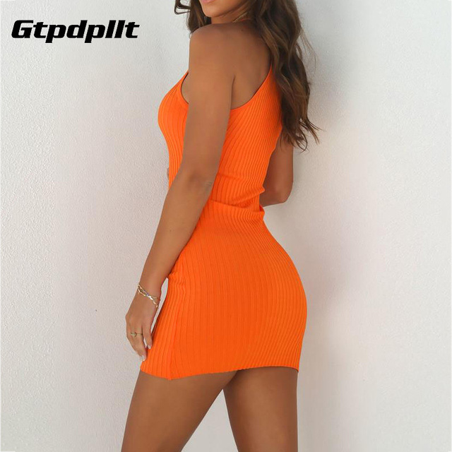 Gtpdpllt Summer Dress Women Solid Sexy Dress Sleeveless Bodycon Beach Dress Women Plus Size Dresses Party Vestidos Verano 2018