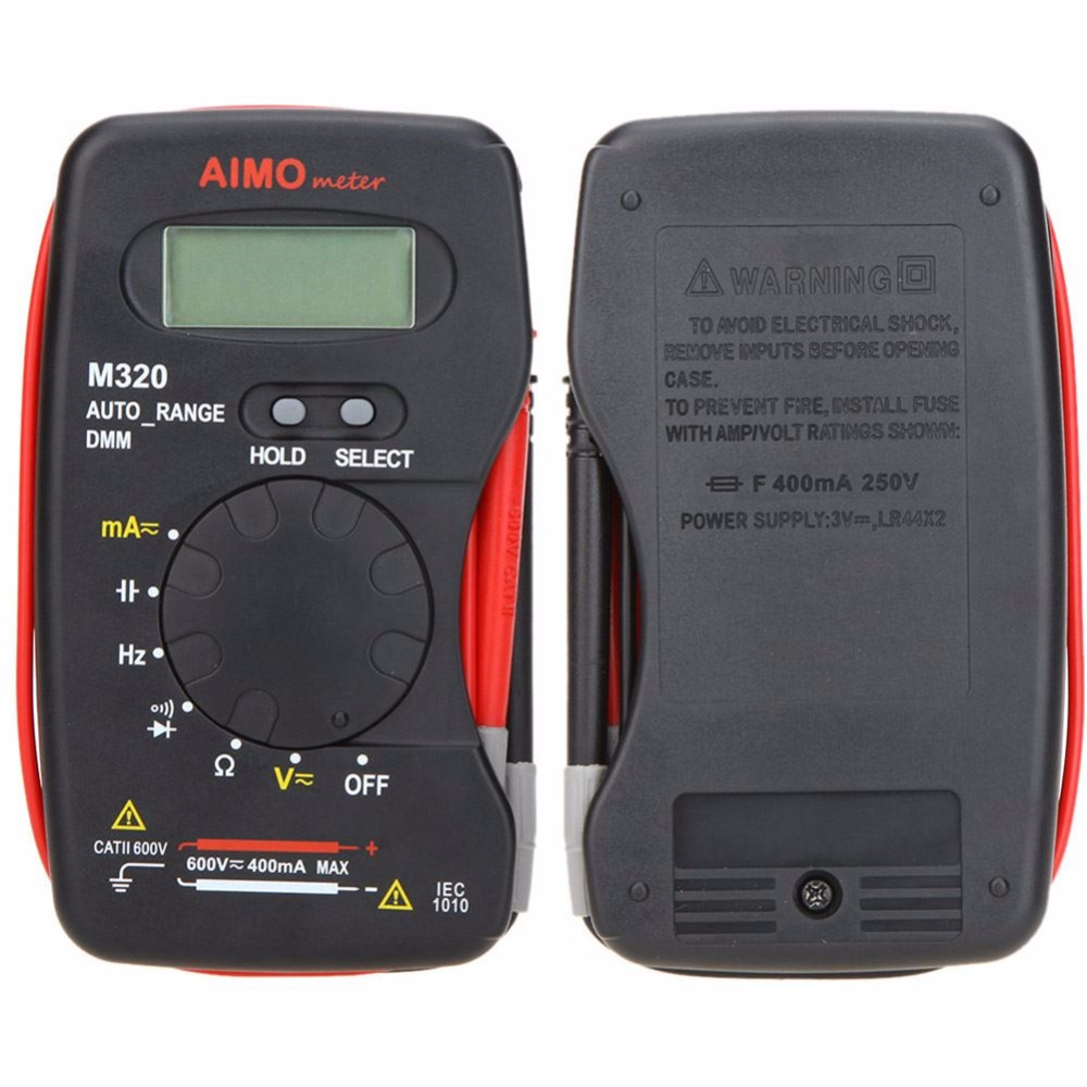 цена  AIMO M320 Pocket Size Auto range Handheld Digital Multimeter DMM Frequency Capacitance Measurement Data Hold Testers  онлайн в 2017 году
