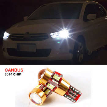 2x Canbus T10 W5W 3014 SMD 27 LED Car Wedge Lights Lamp Side Parking Clearance Light For Citroen C4 C5 C3 C2 Berlingo Xsara Saxo image
