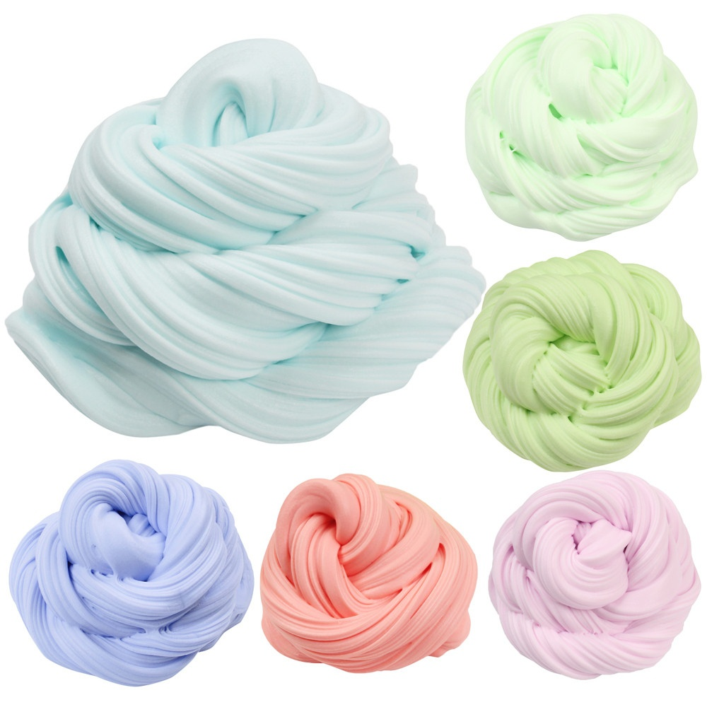 Colorful Fluffy Floam Slime Scented Stress Relief No Borax Kids Toy antistress Sludge Cotton Mud Release Clay Toy Plasticine