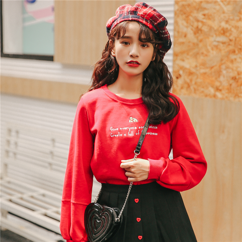 Japanese Lolita Style Loose Hoodie Sweatshirt Women Autumn