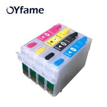 OYfame Новый 73N T0731N многоразового картридж для Epson Stylus TX200 TX410 TX210 TX300F T40W TX600FW TX550W принтер с чипсами