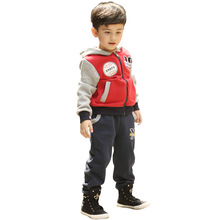 Children's Sets 2016 Boy's Two Piece Suit Hoodie Jacket and Trousers