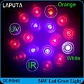 Free shipping Full spectrum Led induction grow light 54w E27 Non-Dimmable spot light bulb lamp for flowering plant Home lighting