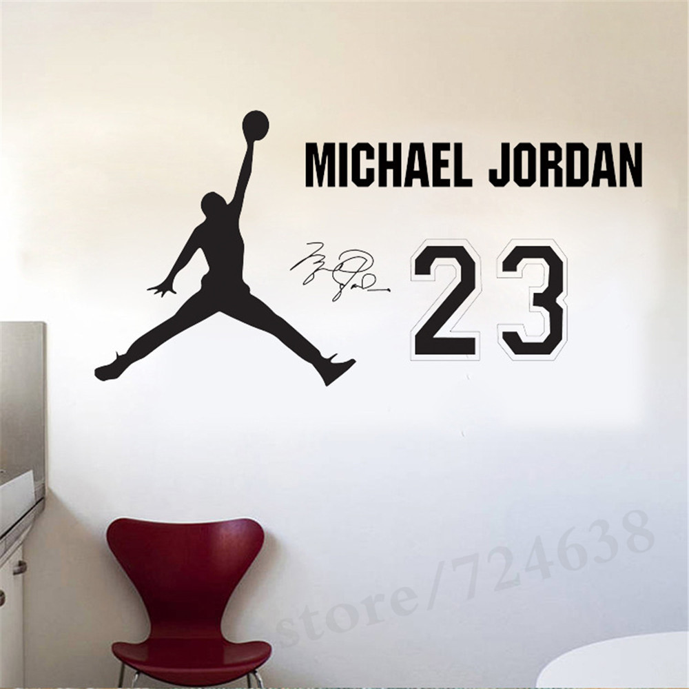 Nba star home decoration vinyl basketball player michael jordan nba star home decoration vinyl basketball player michael jordan wall sticker removable house decor sports room decals in wall stickers from home garden on amipublicfo Images