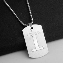 Rongqing 1 шт i буквы подвески 316l Нержавеющая сталь ожерелье