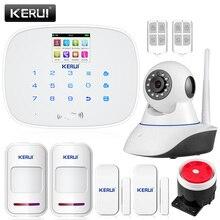 2015 CHAUDE KERUI NOUVELLE Alarme G19 Écran Tactile Sans Fil GSM SMS Quad Bande Alarme Anti-Intrusion Système de Sécurité Pour Android iOS APP Contrôle