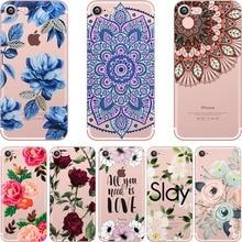 ciciber Summer Flowers Paisley Mandala Rose Daisy Pattern Soft Case Coque Fundas Capa Cover for IPhone 7 6 6S 8 Plus 5S SE X