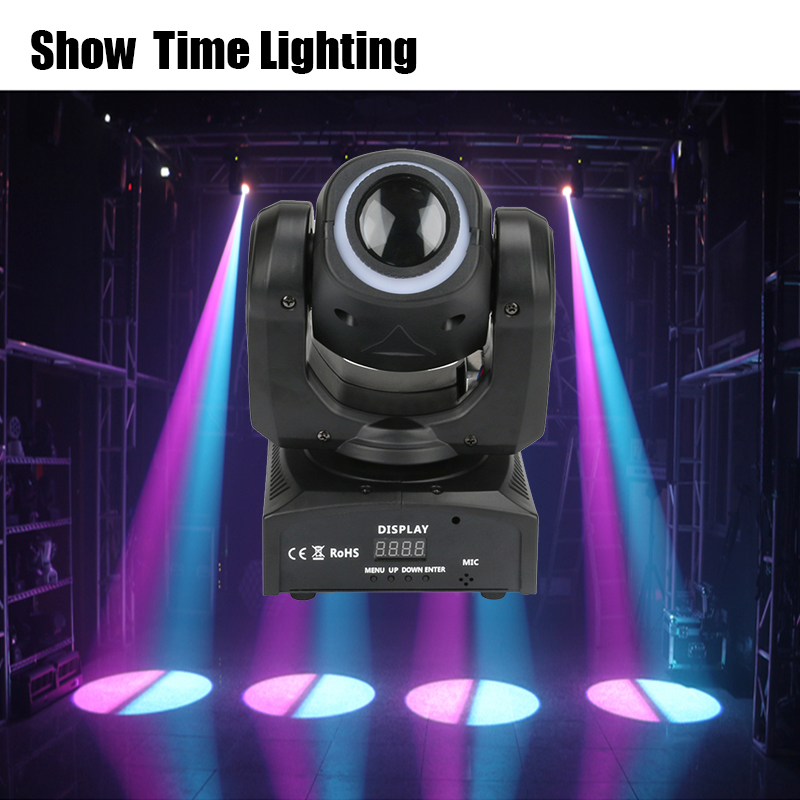 Fast Delivery 30W Dj Led Image Moving Head With Led Strip Disco Lights High Bright Adjust The Image With DMX 512 Show Time