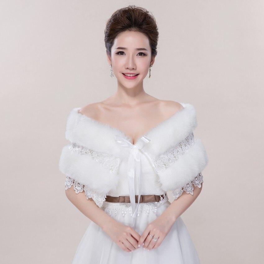 Wedding Gown Wraps: 2016 Elegant Bride Gown Wedding Shawl Warm Winter Shawl