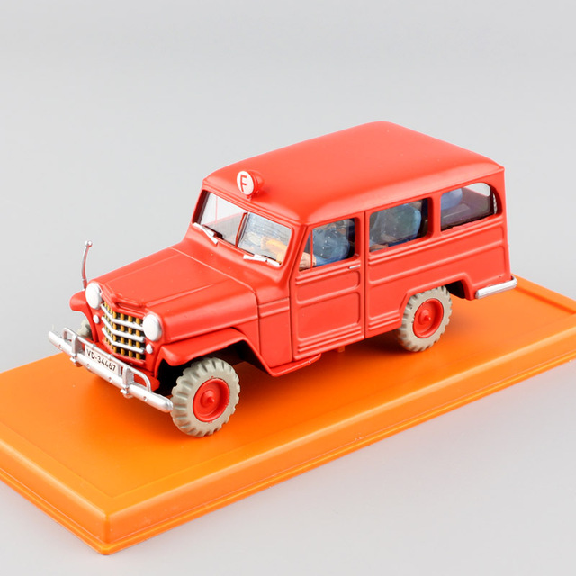 1:43 Scale mini The Adventures of Tintin Jeep Willys Overland Station Wagon action figure diecast metal gift model car boys toys