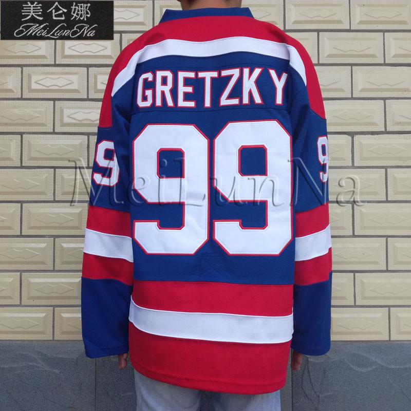 MeiLunNa Customize WHA 1978 Indianapolis Racers Hockey Jerseys 99  Wayne  Gretzky Blue White Blank 9902 SZ XXS-6XL 05f5f71736f