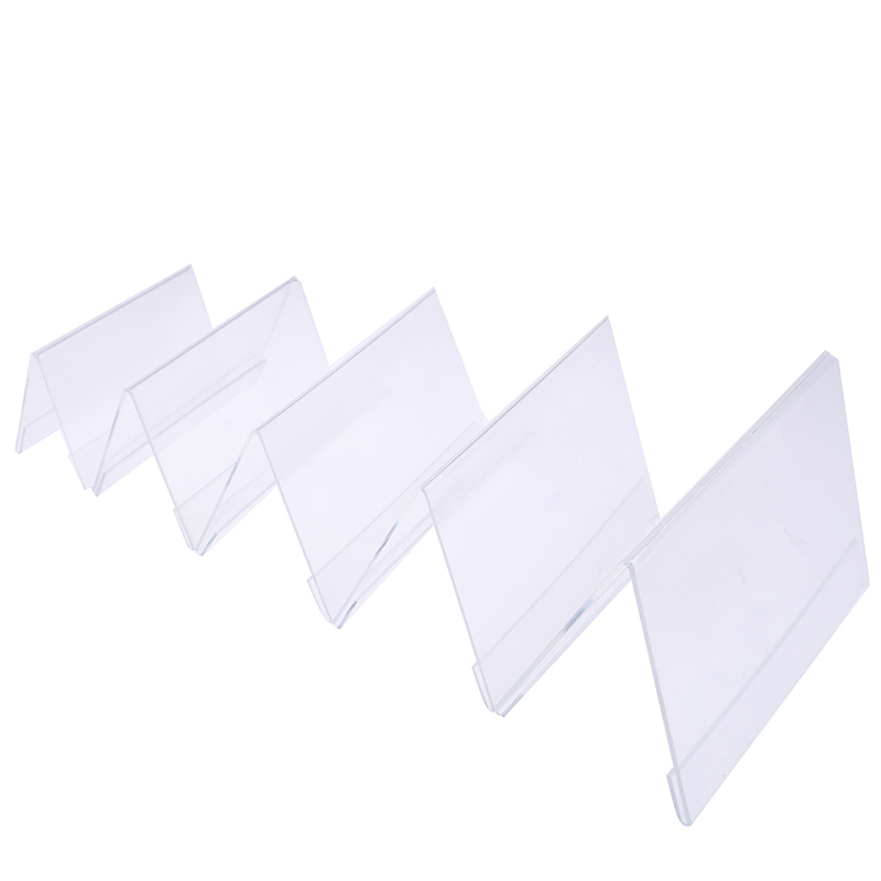 Multi Size Acrylic V Shape Office Desktop Sign Display Price Name Business Card Label Nameplate Table Number Holder Stand
