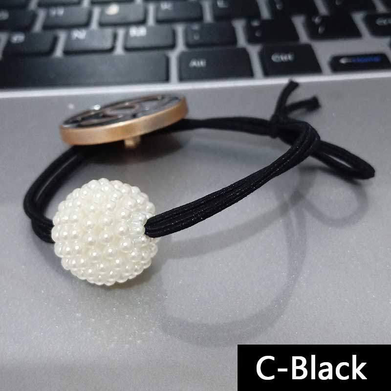 Fashion High Quality Elastic Hair Bands Crystal Pearl Elastic Hair Ropes For Women&Girls Hair Accessories Jewelry Gift