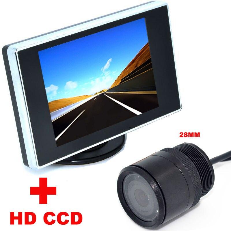 ᗖ3.5 بوصة لون lcd رصد سيارة فيديو + 28 ملليمتر hd ccd سيارة ...