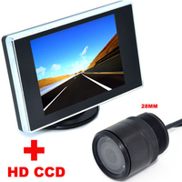 3.5 inch Color LCD Car Video Monitor + 28mm HD CCD Car Rear View Camera backup Camera 2 in 1 Auto Parking Assistance system
