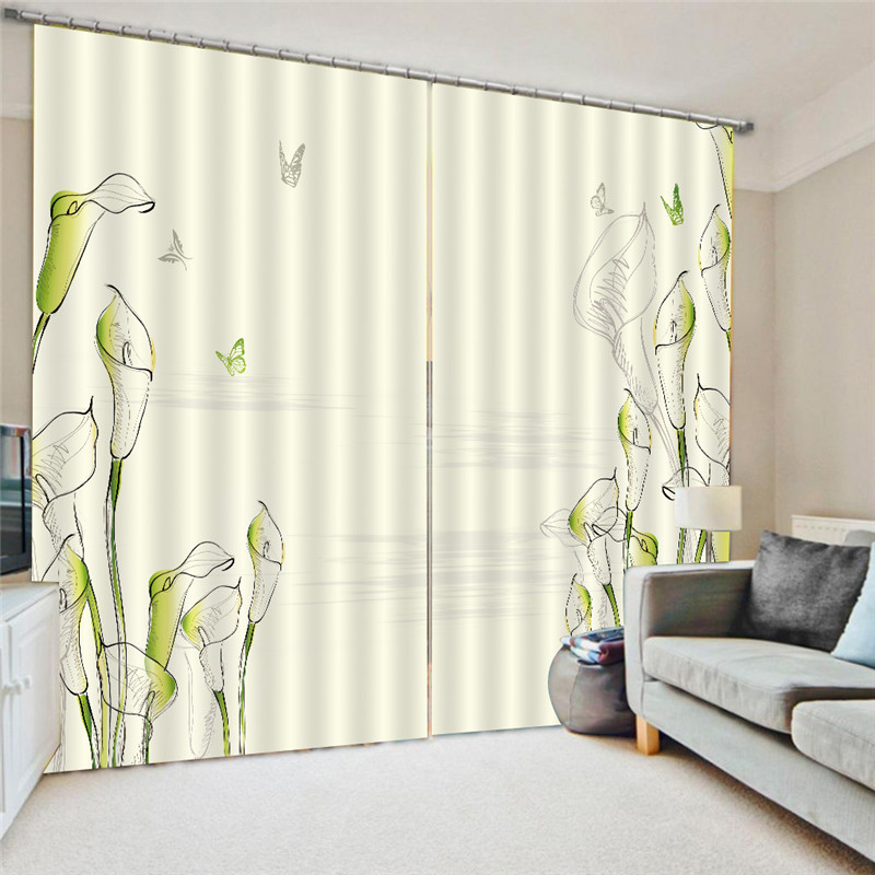 Curtains watercolor blue pink purple curtain for bedroom - Blue and purple bedroom curtains ...