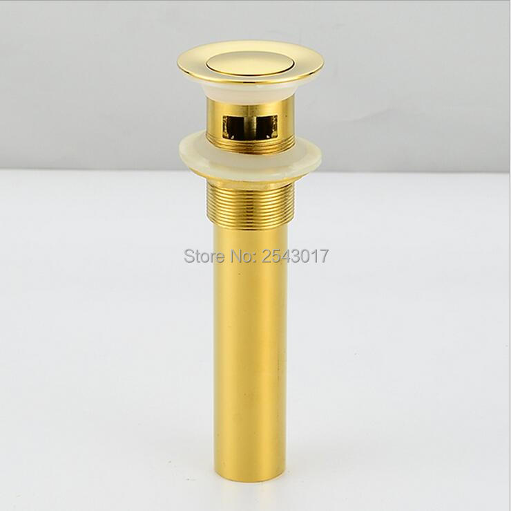 Bathroom Accessories Sink Drain Golden Finish Clic Clack Basin Waste Drainer With Overflow Zr2017 In Drains From Home Improvement On Aliexpress