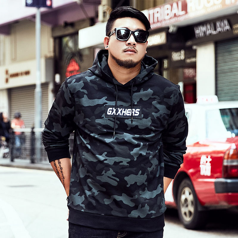 Tide брендовая мужская Толстовка большого размера, мужской головной убор с капюшоном в стиле хип хоп, свободная камуфляжная одежда с капюшоно... - 2