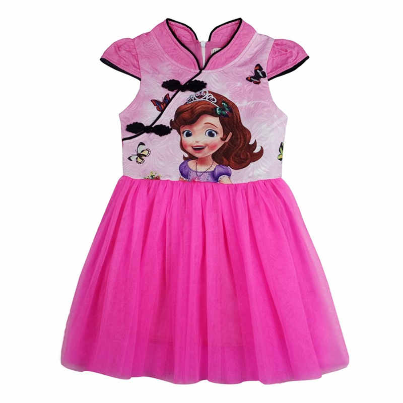 New Girl Dresses Summer Dress Sofia Clothing Baby Toddler Princess Queen Cosplay Party Costume Children Clothes cheongsam 3-8Y girl dresses summer brand baby kid clothes princess anna elsa dress snow queen cosplay costume party children clothing new years