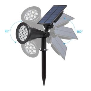 Image 2 - T SUN 2PC 4/7LED Solar Spotlight RGB Selectable Color Solar Power Solar Light For Landscape Garden Path Decor Wall Light Outdoor