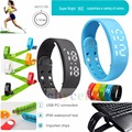 Sports FitnessTracker USB W2 Smartband Bracelet Time Display Calorie 3D Pedometer Temperature Sleep Monitor Waterproof Wristband