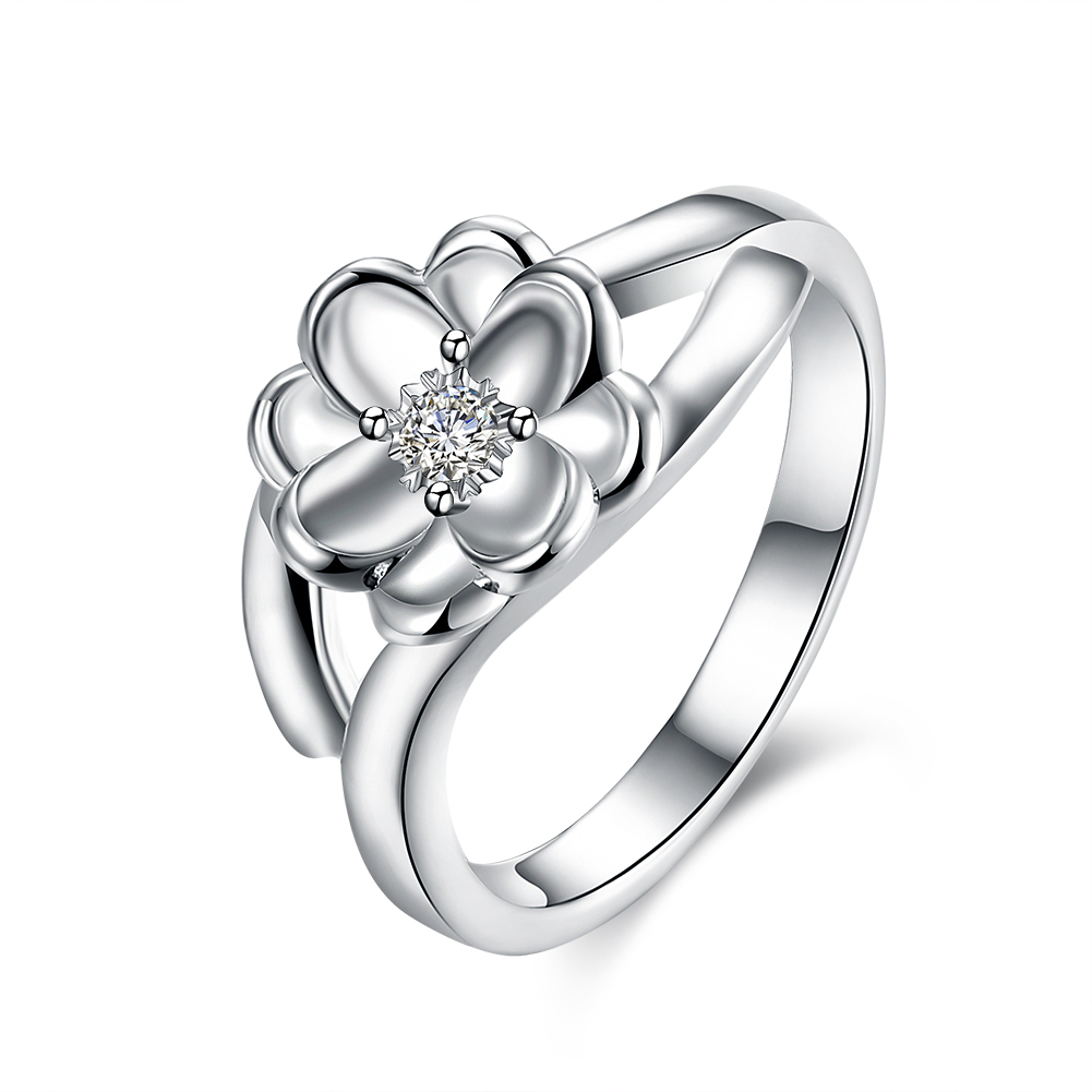 delicate lotus flower two tone engagement ring lotus flower wedding ring Delicate Lotus Flower Two Tone Engagement Ring