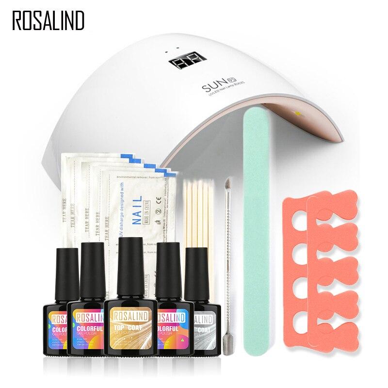 Rosalind New Arrival 10ML UV Gel Kit Soak off Gel Polish Gel Nail Kit Nail Art Tools Sets Kits ...