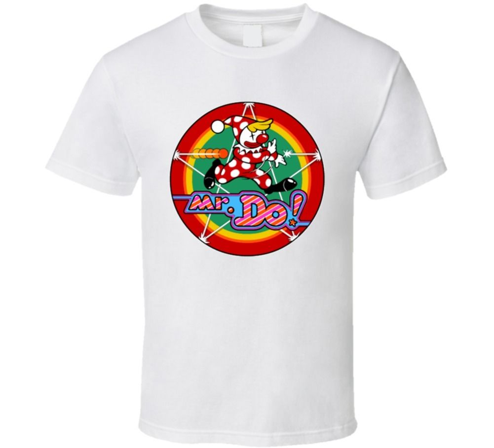 Mr Do Classic Arcade Video Game T-Shirt Men 2017 Summer Round Neck Men'S T Shirt Rude Top Tee Round Neck Top Tee image