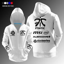 Exklusive Design LOL Gaming Team fnatic herbst winter reißverschluss Strickjacke hoodies mode Cosplay Hoody Kostenloser Versand