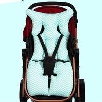Wave Stripe Cotton Stroller Liner Seat Cushion Pram Pad Baby Chair Car Seat Pads Soft Stroller