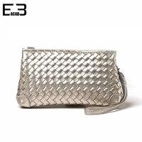 Knitting Clutch Bag Simple Zipper Mini Bag Single Shoulder Women Clutches 2017 New Design Handbag Carteira