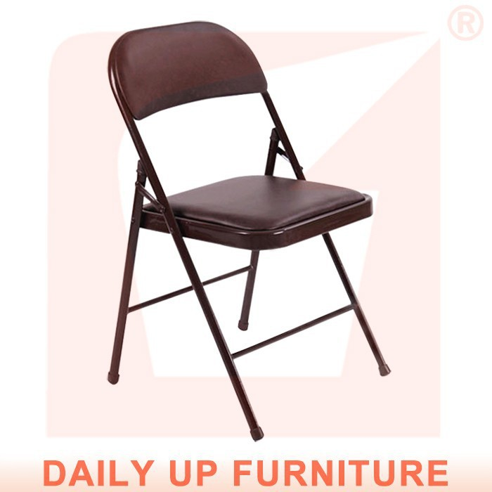 Black PU Padded Folding Chair Leisure Metal Foldable Chair Lobby Reception  Chair With Cushion Home Office Furniture In School Chairs From Furniture On  ...