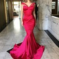 Sexy Vermelho vestido de Noite Querida Plissados Sereia Longas Formais Vestidos de Festa Transporte Rápido de Cetim Custom Made longo vestido de Baile